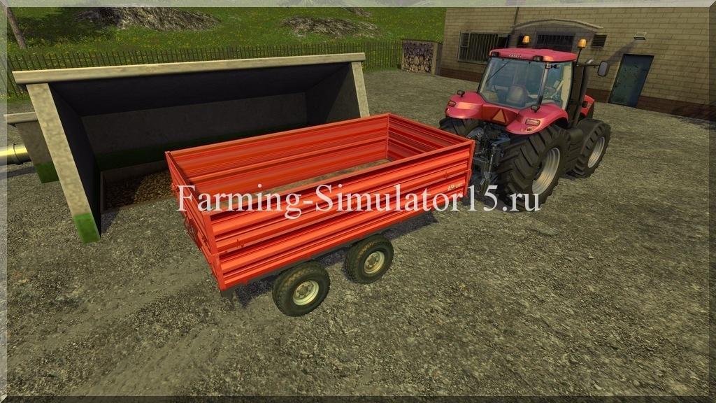 Мод двуосного прицепа Agrogep AP 800 v 2.0 Farming Simulator 15, 2015