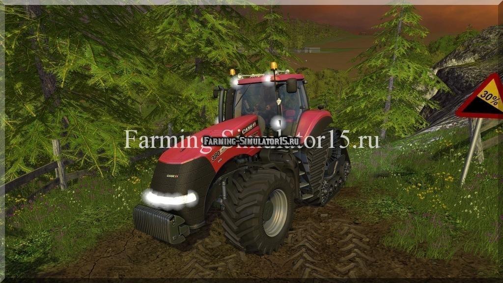 Мод трактора Case IH Magnum 380cvx RowTrac v 1.0 Farming Simulator 15, 2015