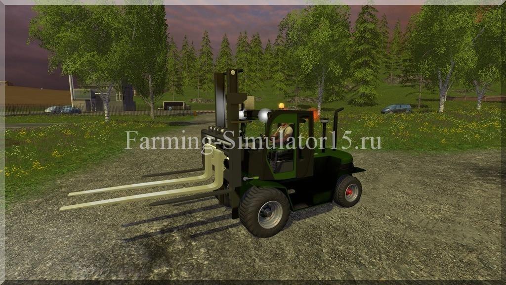 Мод погрузчика Clark Forklift Fork v 3.0a Farming Simulator 15, 2015