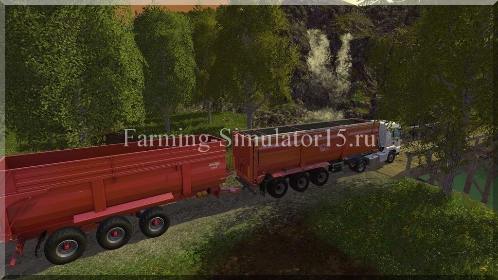 Мод полуприцепа Krampe SB3060 mit Kupplung V 1.0 Farming Simulator 15, 2015
