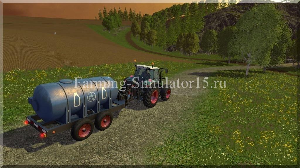 Мод прицепа для воды и молока Water Milk Trailer v 4.0.2 Farming Simulator 15, 2015