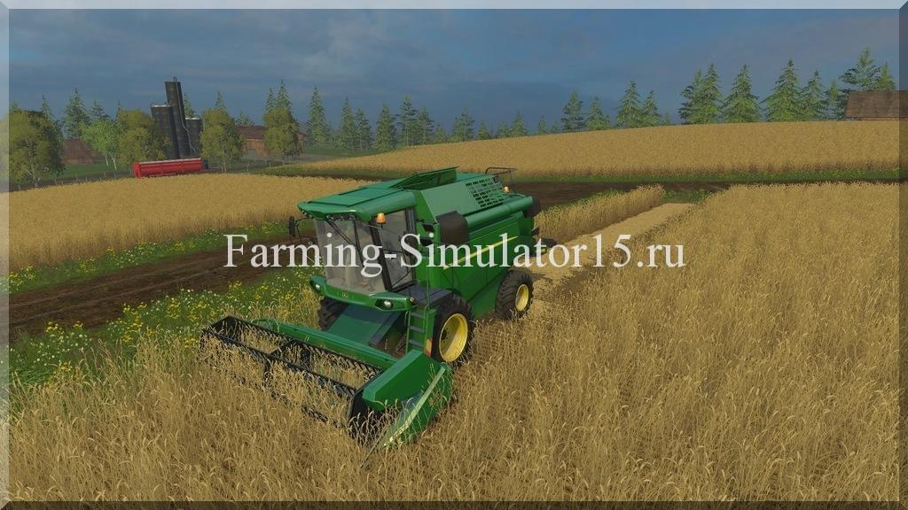 Мод комбайна John Deere W330 v 1.1 Farming Simulator 15, 2015