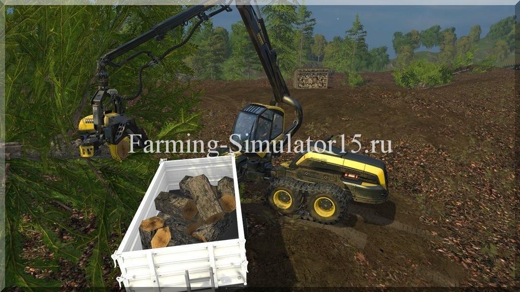 Мод прицепа Tandem Tipper for general cargo v1.2 Farming Simulator 15, 2015