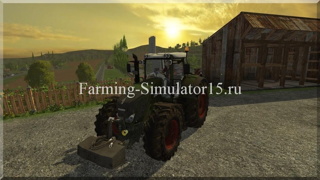 Мод трактора Fendt 828 Vario v 2.0 Dirt Farming Simulator 15, 2015