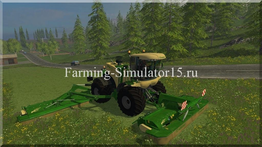 Мод комбайна Krone Big M 500 v 1.0 Farming Simulator 15, 2015
