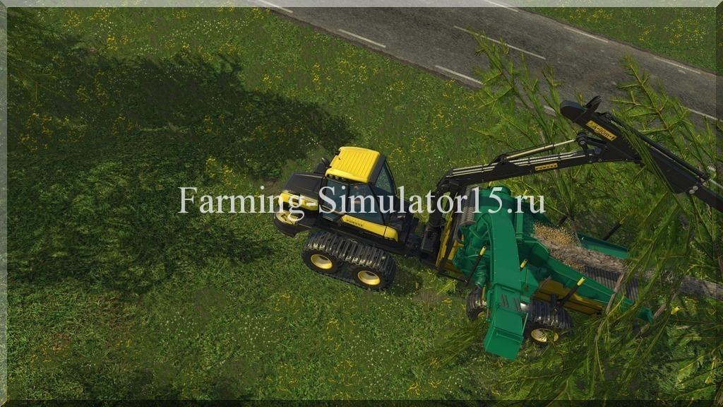 Мод щепо-дробилки Ponsse Buffalo Hackschnitzler v 1.1 Farming Simulator 15, 2015