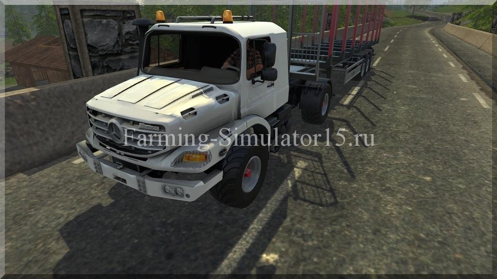 Мод грузовика Mercedes Zetros v 2.0 Farming Simulator 15, 2015