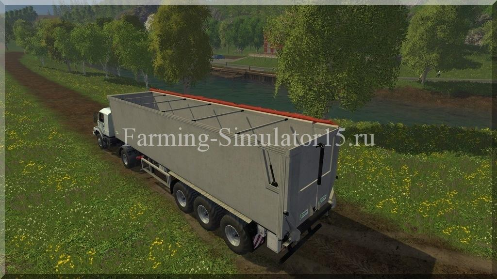 Мод полуприцепа Kroeger SRB 35 V 1.0 Farming Simulator 15, 2015