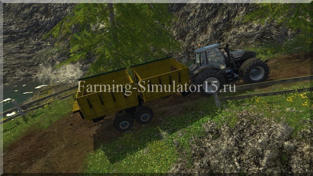 Мод двуосного прицепа PTS 9 v 1.1 Farming Simulator 15, 2015
