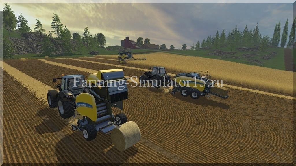 Мод тюкопресса New Holland BB 1290 & RB 150 v1.0 Farming Simulator 15, 2015