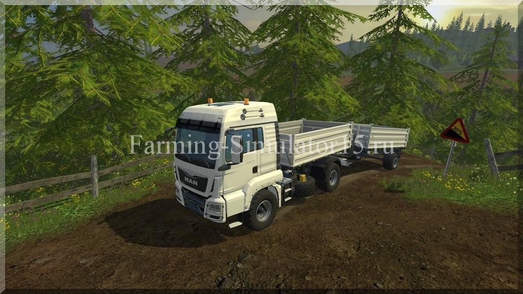 Мод грузовика MAN TGS 18440 Tipper v 1.0 Agrar Farming Simulator 15, 2015