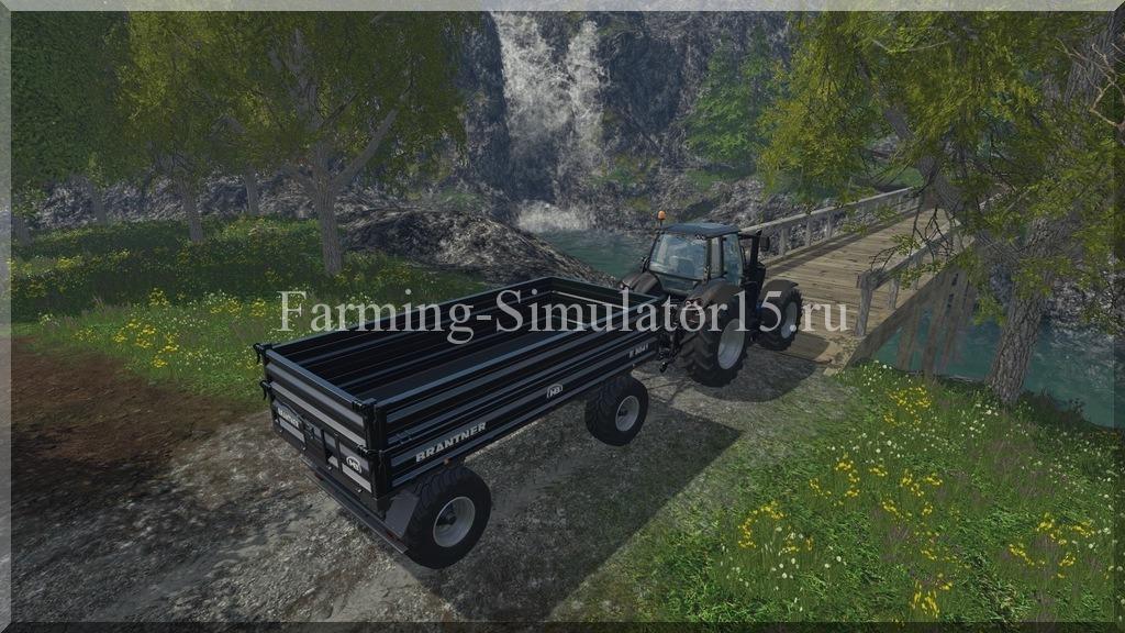 Мод прицепа с поворотным кругом Kroeger Brantneraufbau v 1.0 Farming Simulator 15, 2015