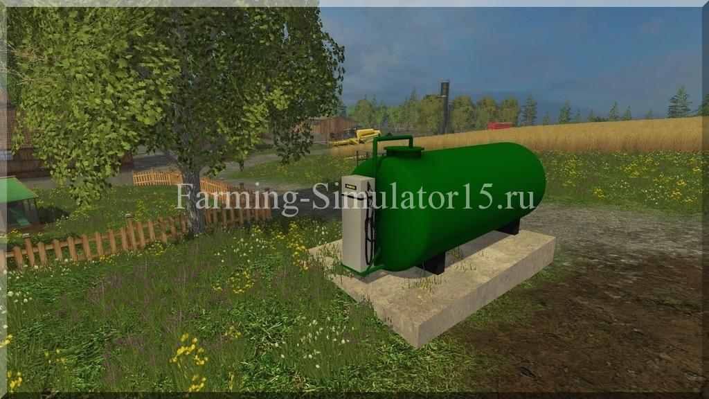 Мод заправочная станция Gas Station v 1.0 Placeable Farming Simulator 15, 2015