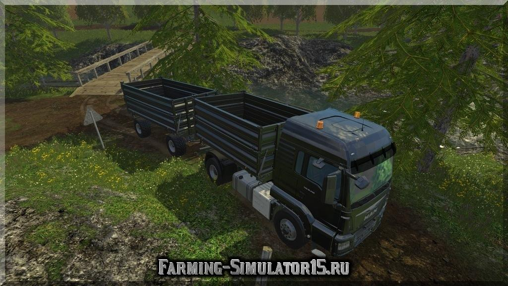 Мод грузовика MAN TGS 18.440 & Trailer Brantner Z 1805 XX v 2.0 Farming Simulator 15, 2015