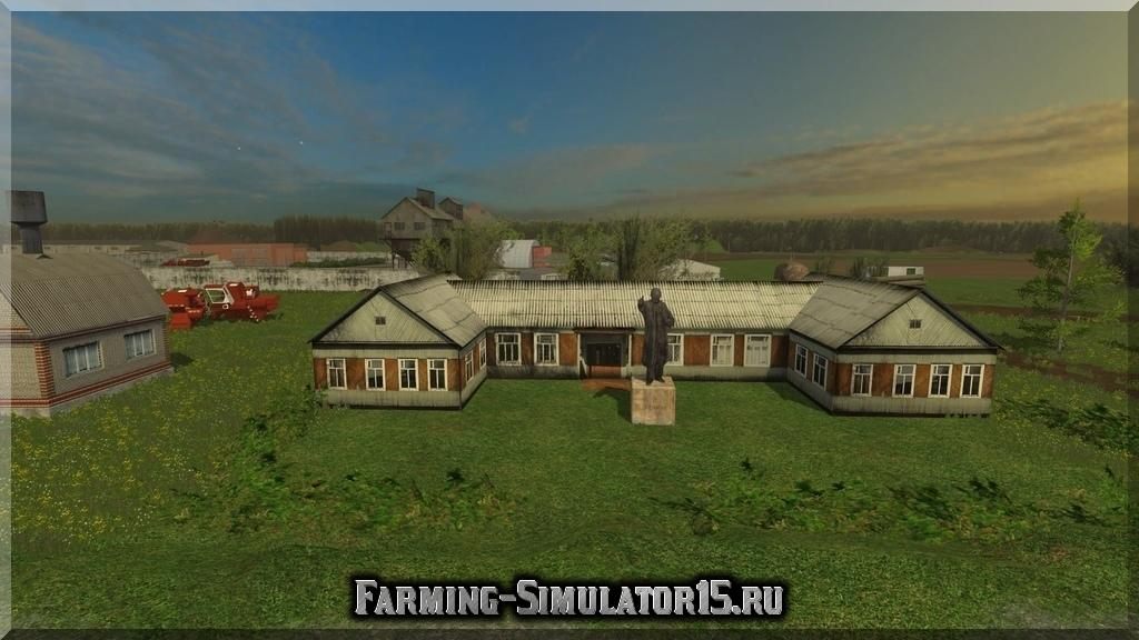 Мод карта Деревушка v1.0 Farming Simulator 15, 2015