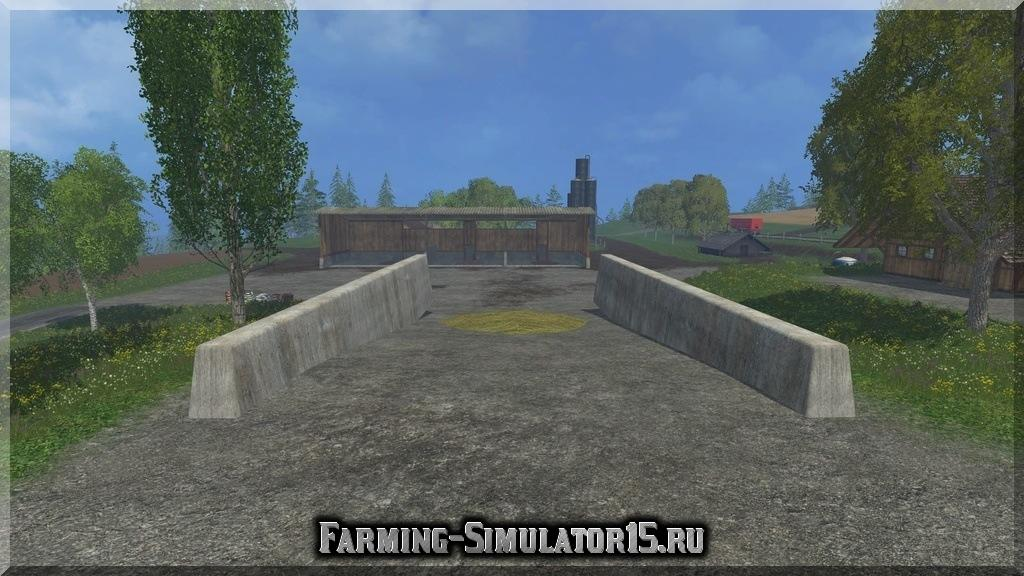 Мод Bunker Silo v 1.0 Placeable Farming Simulator 2015, 15
