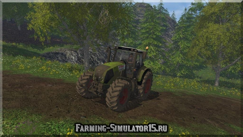 Мод трактора Claas Axion 820 v 4.0 Dirt Farming Simulator 15, 2015