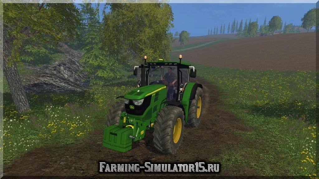 Мод трактора John Deere 6170R v 1.0 Farming Simulator 2015, 15
