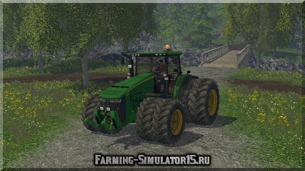 Мод трактора John Deere 8370R v 1.0 Farming Simulator 2015, 15