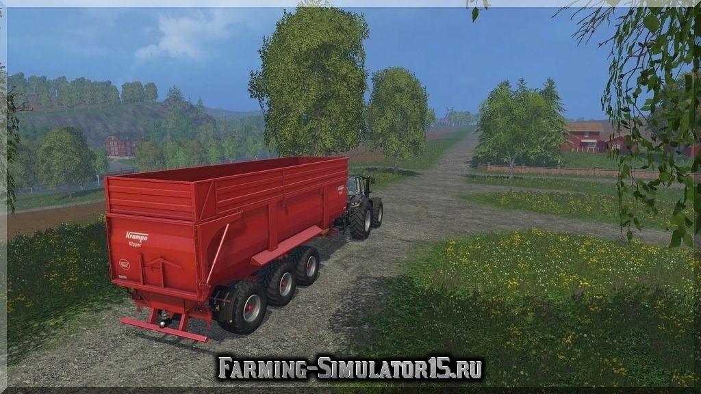 Мод трехосного прицепа Krampe BBS 900 v 2.0 Farming Simulator 15, 2015