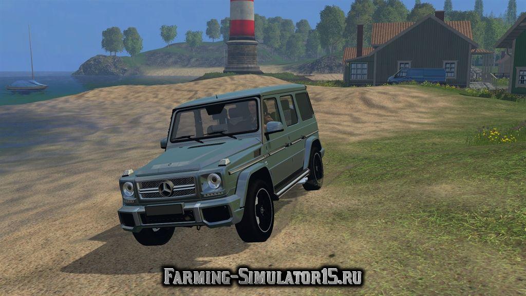 Мод легкового автомобиля Mercedes-Benz G65 AMG Farming Simulator 15, 2015