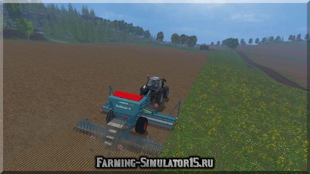 Мод сеялки Lemken Solitair 9 v 1.0 Farming Simulator 15, 2015