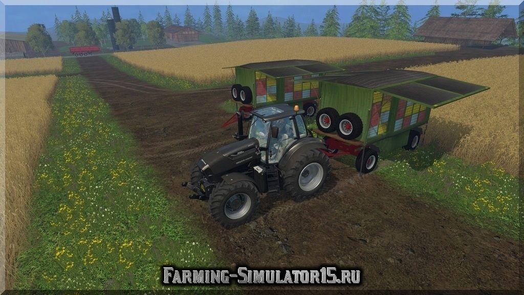 Мод передвижного улея Kroeger Bienenstock v1.0 Farming Simulator 15, 2015