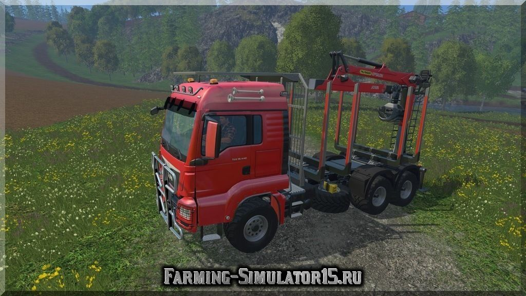 Мод лесовоза MAN TGS 18.440 FORESTRY V 2.0 Farming Simulator 2015, 15