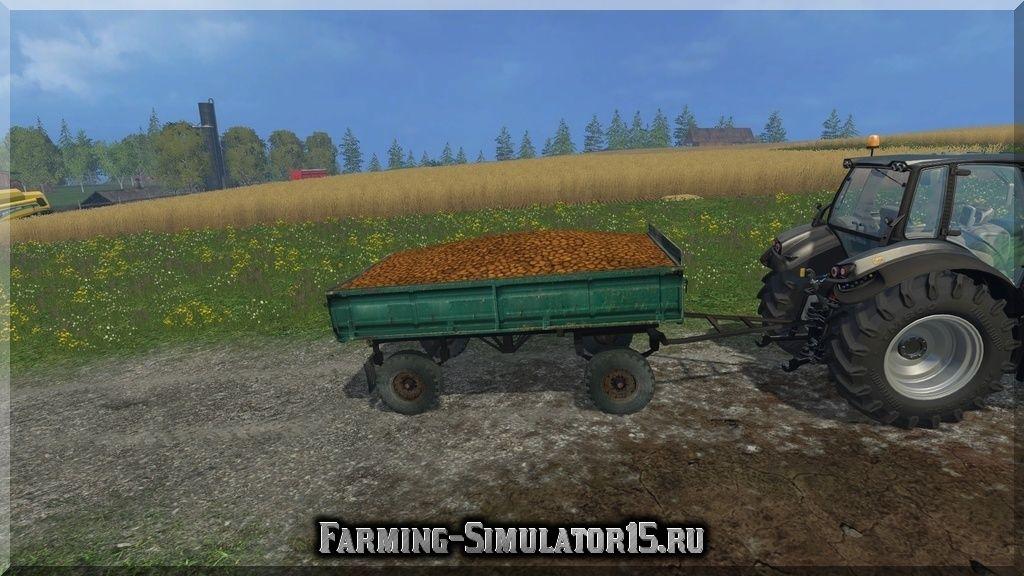 Мод прицепа с поворотным кругом ПТС PTS 4 Farming Simulator 2015, 15