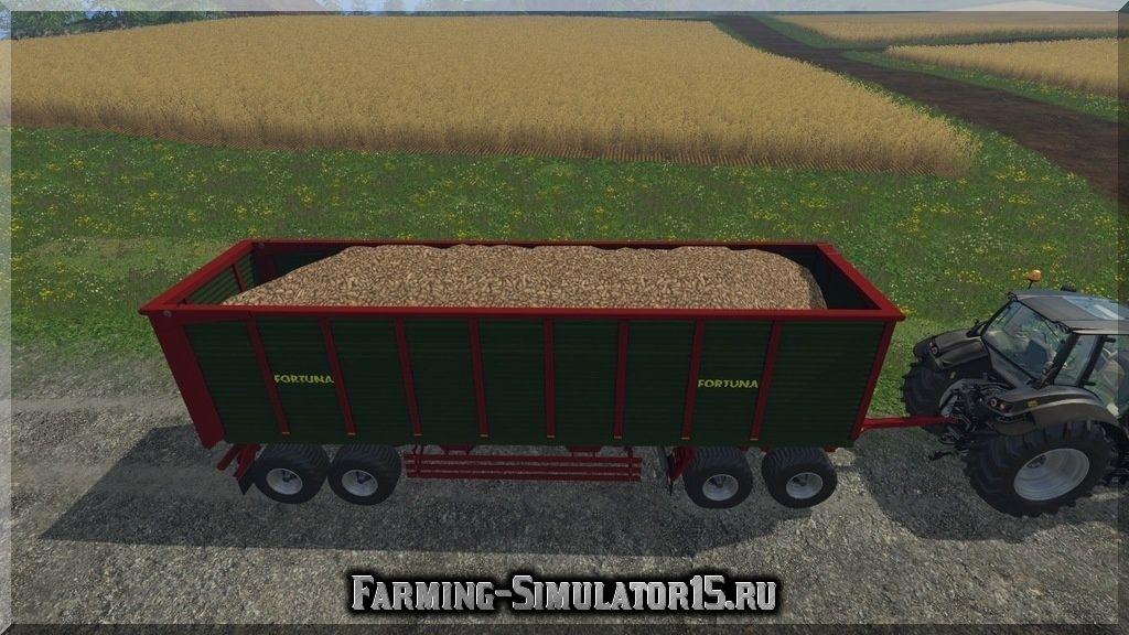 Мод полуприцепа Fortuna SA 560 Incl D2 Dolly V 1.0 Farming Simulator 15, 2015