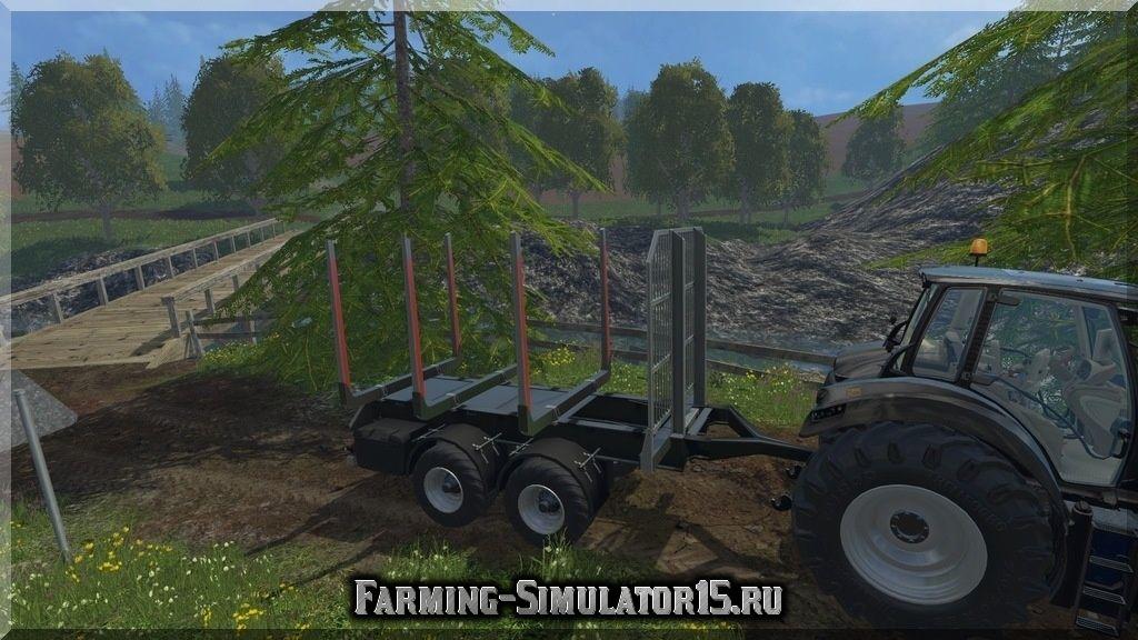 Мод прицепа FlieglTimberTandem V 1.1 Farming Simulator 2015