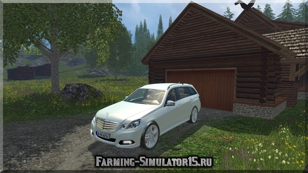 Мод автомобиля Mercedes Benz E350 CDI v 1.0 Farming Simulator 15, 2015