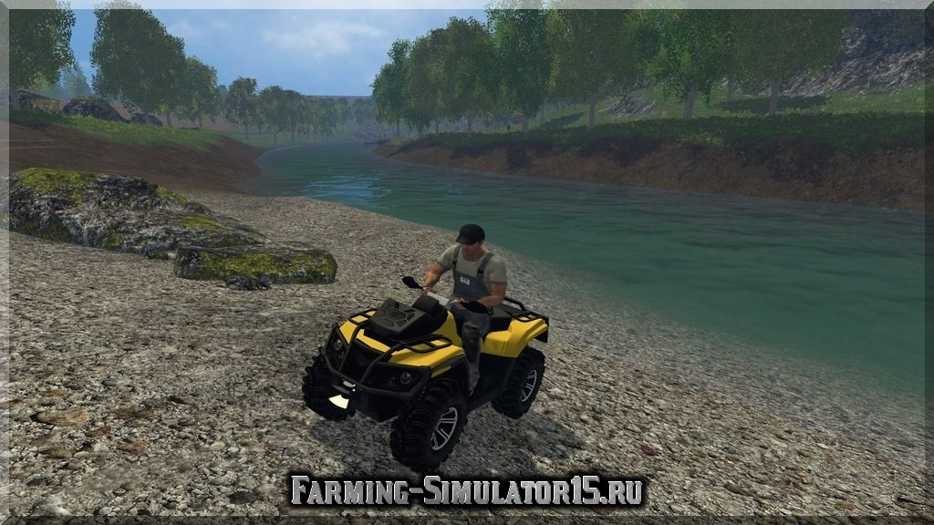 Мод квадроцикла CanAM 1000 XT v 1.0 Farming Simulator 2015, 15