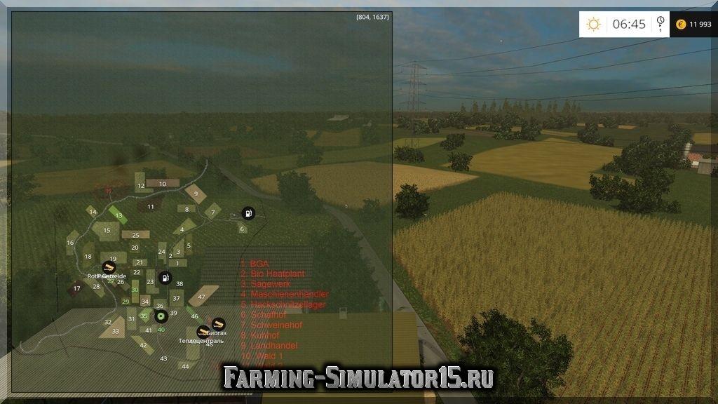 добавить карту болота в фермер 2015