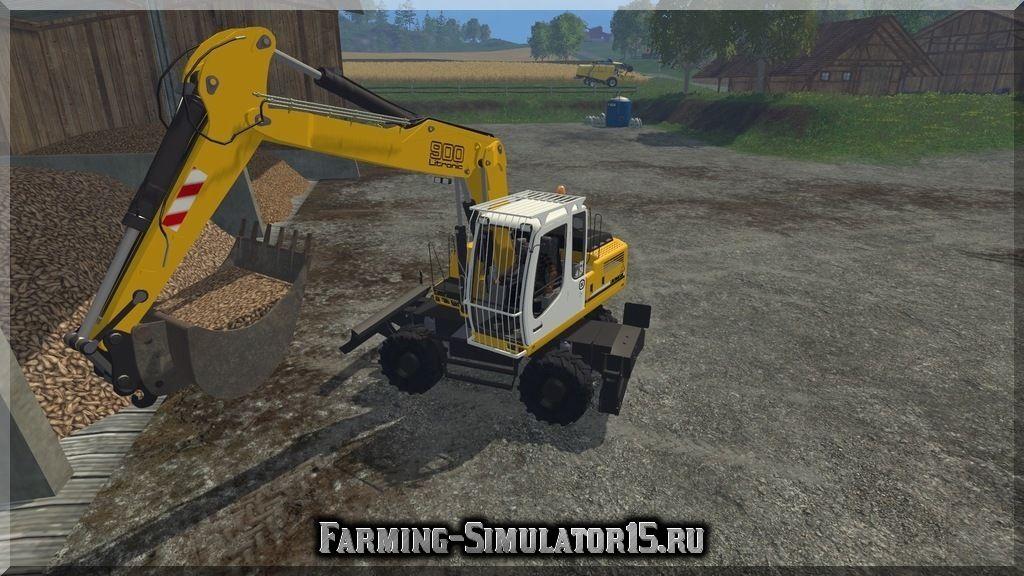 Мод экскаватора Liebherr 900C Litronic v 1.0 Farming Simulator 15, 2015