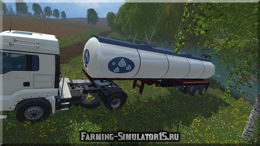 Мод полуприцеп для воды Water trailer v 1.0 Farming Simulator 2015, 15