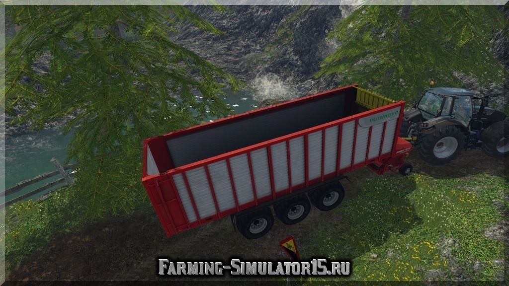 Мод прицепа для силоса Poettinger Jumbo 10010 CL v 1.0 Farming Simulator 15, 2015