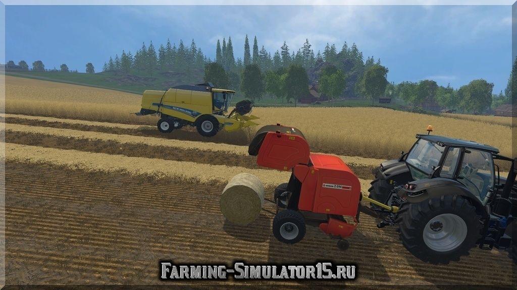 Мод тюкопресса Ursus Z 594 v 1.0 Farming Simulator 15, 2015