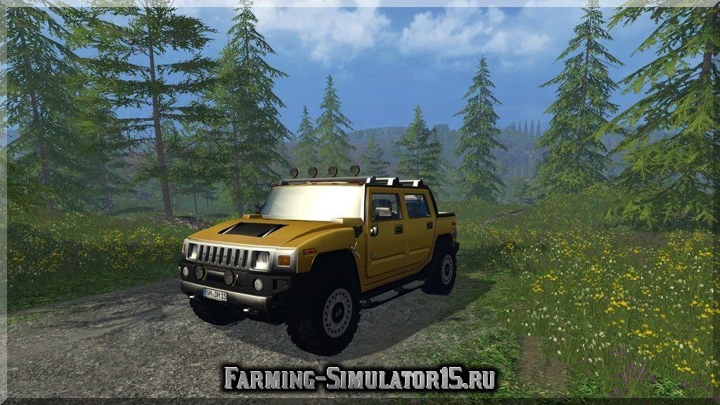 Мод автомобиля Hummer H2 Service v 1.0 Farming Simulator 15, 2015