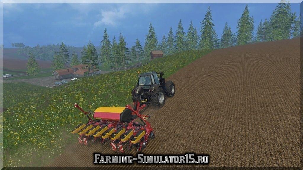 Мод сеялки Vaderstad F8 v 1.1 Farming Simulator 15, 2015