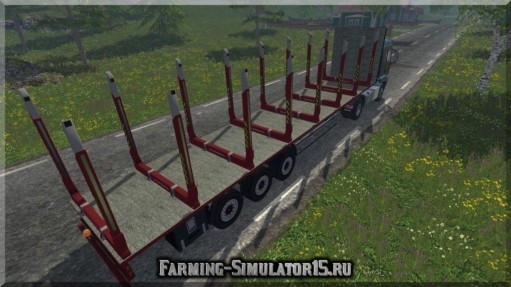 Мод прицепа для перевозки бревен Kogel Timber Semi Trailers v 1.0 Farming Simulator 2015, 15