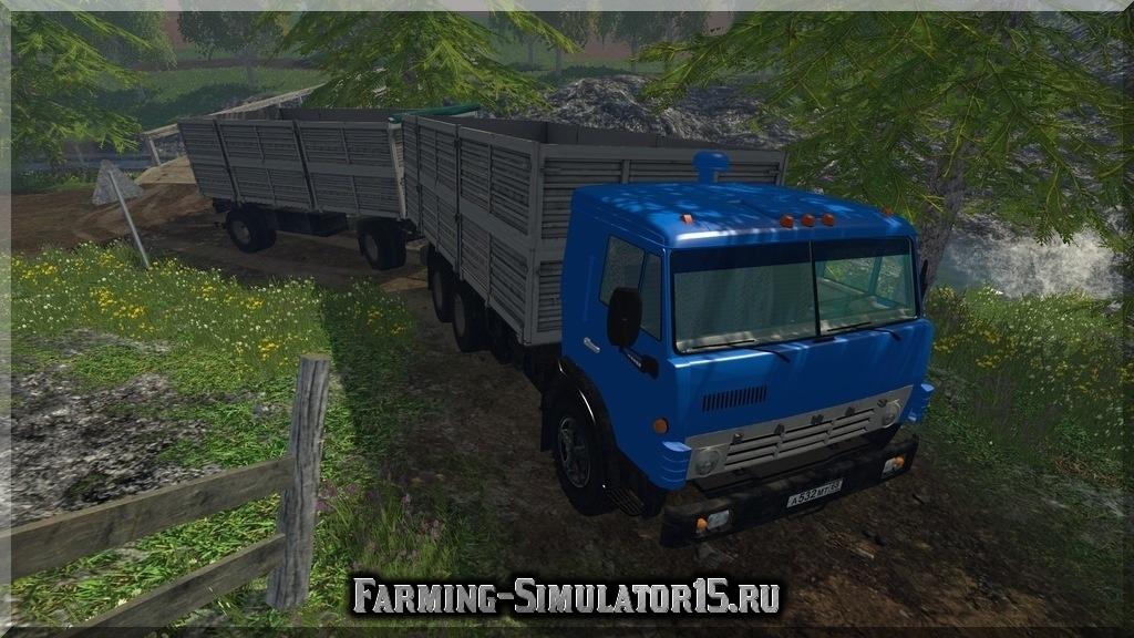 Мод грузовика КАМАЗ KAMAZ 53212 и Прицеп ГКБ Farming Simulator 2015, 15