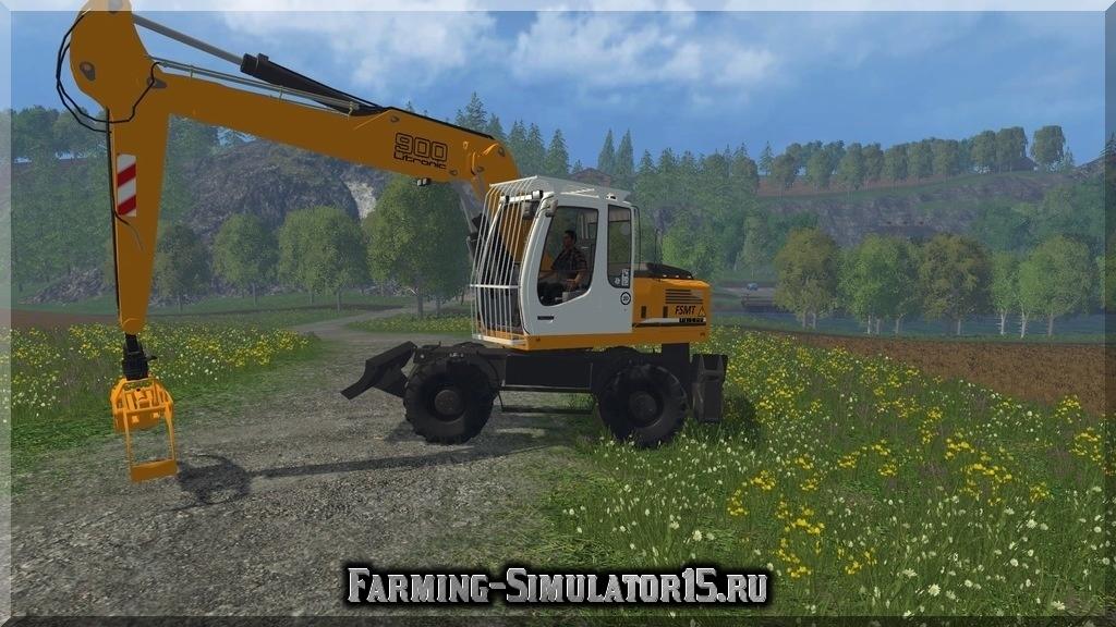Мод трактора Liebherr 900C Litronic v 1.0 Farming Simulator 15, 2015