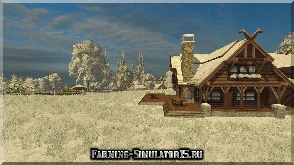 Мод карта BjornHolm Winter complete map Farming Simulator 15, 2015
