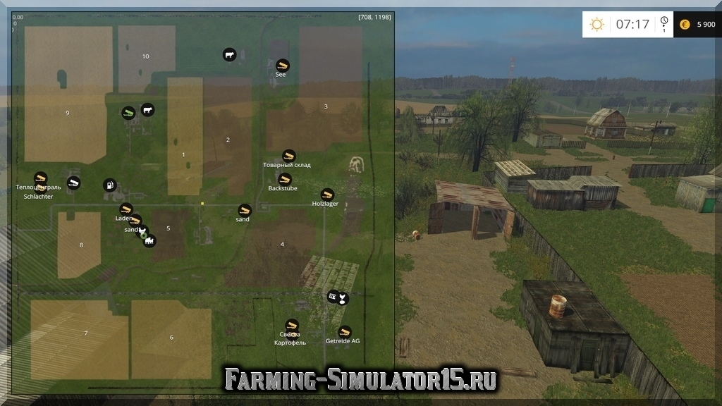Farming Simulator 2015 моды Карты
