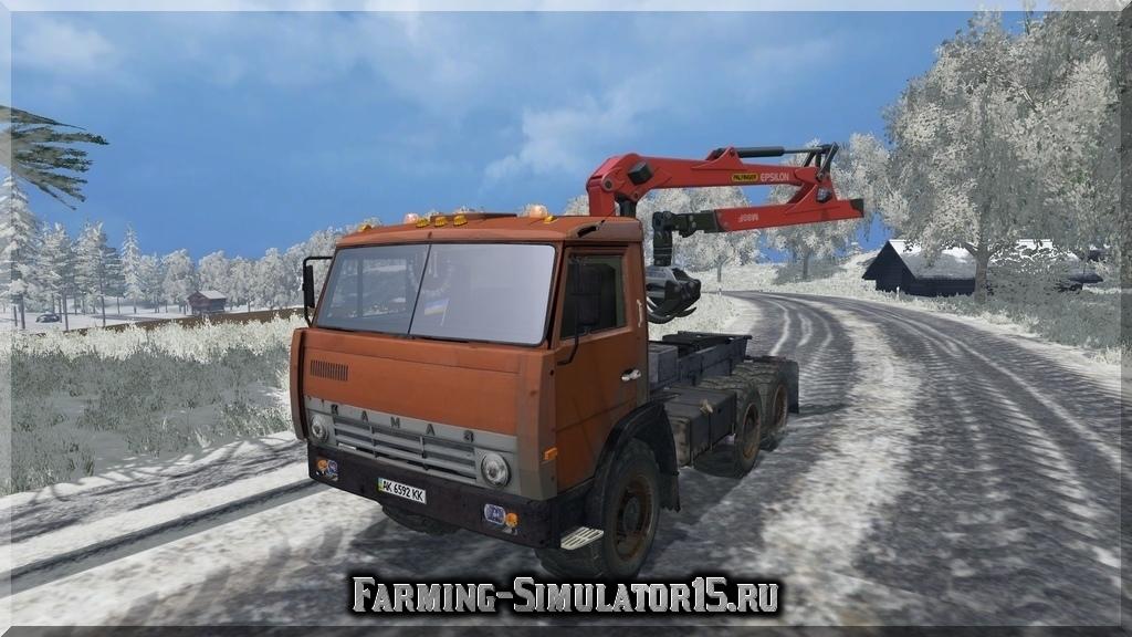 Мод грузовика Камаз KamAZ-55111 Forest Farming Simulator 2015, 15