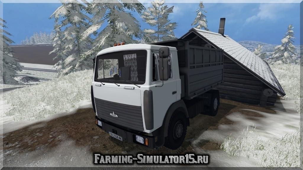 Мод грузовика MAZ 5551 v 2.0 Farming Simulator 15, 2015