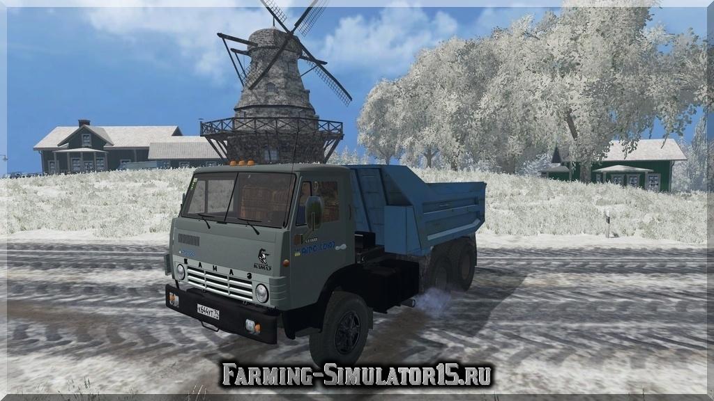 Мод грузовика КАМАЗ KAMAZ 55111 Farming Simulator 15, 2015