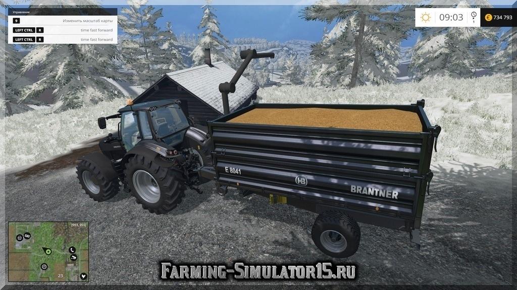 Мод прицеп-пересыпщик Barntner XL Ülw v 2.1 Farming Simulator 15, 2015
