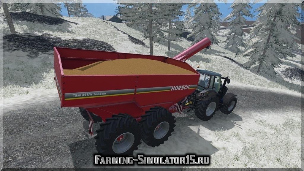 Мод прицеп-пересыпщик Horsch Titan tandem v 1.1 Farming Simulator 2015, 15